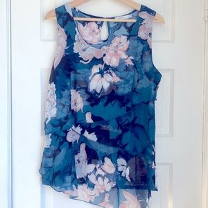 (2 for $30) Ricki's floral layered tank top blouse